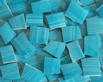 Mosaic Tiles---Aqua Brush---50 Tiles--Great Filler