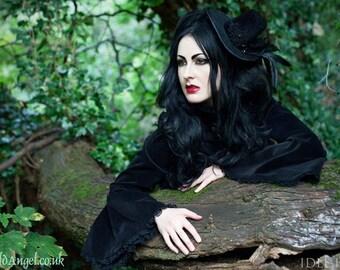 Evil Queen Velvet & Feathers Hat