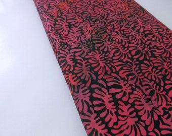 Batik, Batik Quilting, Batik Fabric, Hot Pink Batik, Cotton Fabric, Palm Leaves, Indonesian Batik, Waxed Batik, Princess Mirah Batik, Sewing