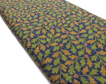 County Road in Navy Seattle Bay Leaves Falling Leaf Quilting Sewing Fabrics Textiles Quilters