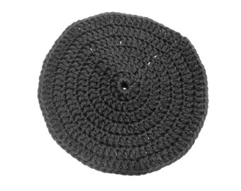 Black Crocheted Round Dish Cloth