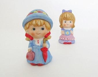 Vintage Little Girl Figurines Little Girl Knicknacks