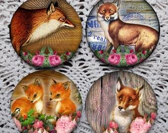 A Fox In The Henhouse -- Fox Mousepad Coaster Set