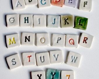 """Mosaic Tile Ceramic Porcelain Letters """"Jupiter"""" font Made to Order"""