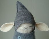 Oatmeal Lambswool Bunny In Gray Get Up