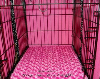 "Dog Crate Pad  - 3""  Memory Foam - Small to Giant Sizes -  Dogs - Pets - Includes Embroidered Personalization"