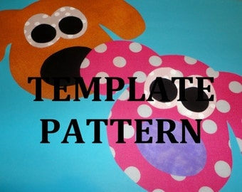 Applique PDF Template Pattern...Fun For Quilts/Scrapbook/Party Papers.....PUPPY FACE....New