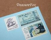 San Francisco .. Unused Vintage Postage Stamps .. mail 5 letters
