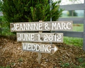 Spring Wedding Sign Decorations Martha Stewart Weddings Featured LARGE FONT 3 With A Stake. Reception Party Sign Dinner and Dancing