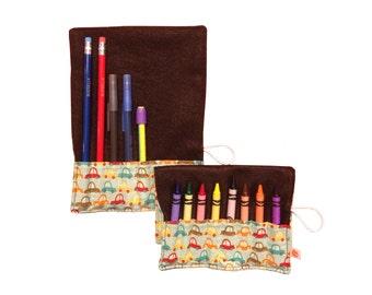 Convertible Crayon/Pencil Roll | Crazy Cars