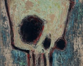 Momento Mori - reserved for Daniel - Original Painting on Masonite Board - 8 by 10 inches