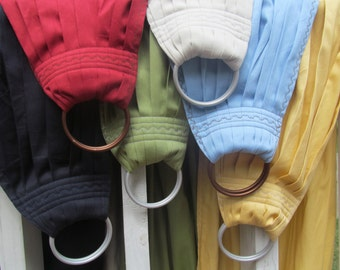 Ring Sling Baby Carrier - French Twill Cotton - DVD included