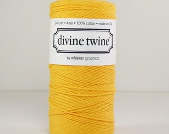 Full Spool (240 yards) Solid Yellow Divine Twine Baker's Twine