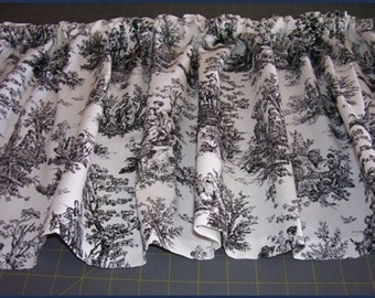 TOILE  CURTAIN VALANCE - Rich colors