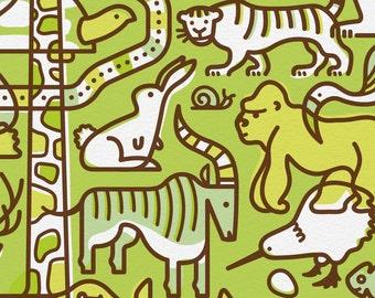 animal medley limited edition print