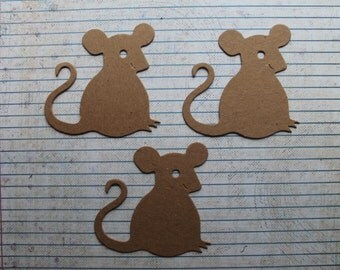 3 Bare chipboard Mouse diecuts 3 inches wide