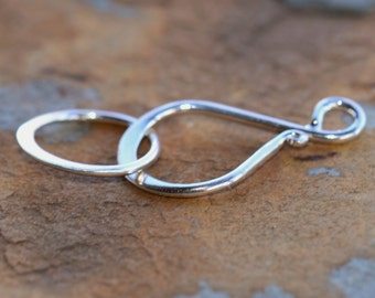 Sterling Silver Clasps - Ornate Hook and Eye