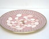 Vintage 1950s Pink Tile Decorative Plate