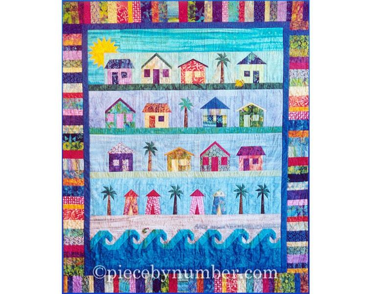 Beach Cottages Quilt Paper Piecing Quilt Patterns Beach Quilt