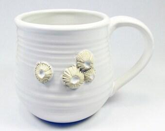 White Barnacle Mug READY TO SHIP