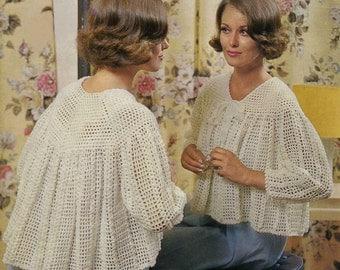Vintage Ladies Bedjacket, Crochet Pattern, 1960 (PDF) Pattern, Sirdar 2473
