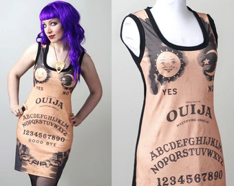 custom Ouija spirit board tank dress - smarmyclothes halloween gothic occult