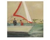 The Kidnapping Of Edward Pink-  Art Print From Miniature Oil Painting