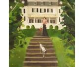 Summer At Heathcliff Hall.  Art Print
