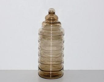 Jacob Bang Holmegaard Primula Glass Jar, circa 1930s - 1940s