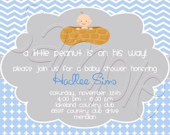 Printable Little Peanut Baby Shower Invitation