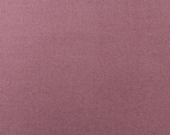 SALE - Mauve Polyester Cotton Fabric - 1 1/8 Yards - Remnant