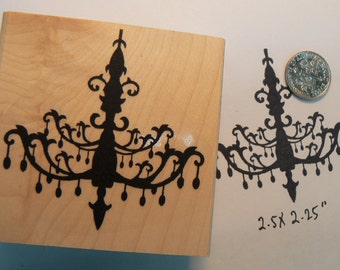 Chandelier rubber stamp P20