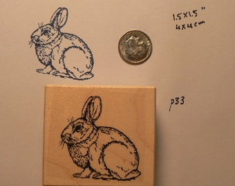 Bunny rubber stamp  P33