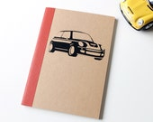 Mini Cooper Car Pocket Notebook / Paper Goods/ Jotter / Screen Printed Notebook
