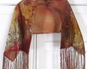 SALE Antique, 1800's Victorian Silk Muted Velvet Shawl... Was 150.00 Now 134.99