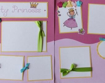 PRETTY PRINCESS girl 12x12 Premade Scrapbook Pages