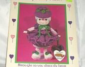 Raspberry Fluff, Vintage Crochet Pattern, from Lollipop Lane Dumplin Designs