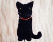 Halloween Fuzzy Black Cat Pin Topper