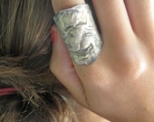 kali and the moth ring in recycled fine silver