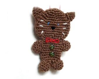 Gingerbread Cat Crochet Pattern - Christmas Crochet Pattern - Christmas Decor