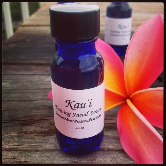 Natural Unscented Anti Aging Facial Serum Kau'i Oil/Beauty oil/Coconut oil/Young Skin
