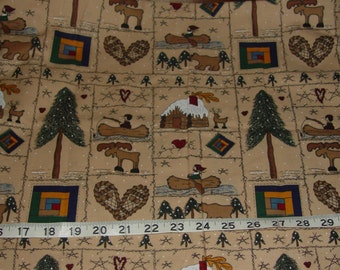 Popular items for cabin fabric on etsy for Fishing themed fabric
