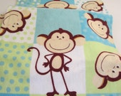 Set of 3 Monkey Burp Cloths