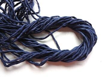 Hand Dyed Silk Cord - Denim Blue