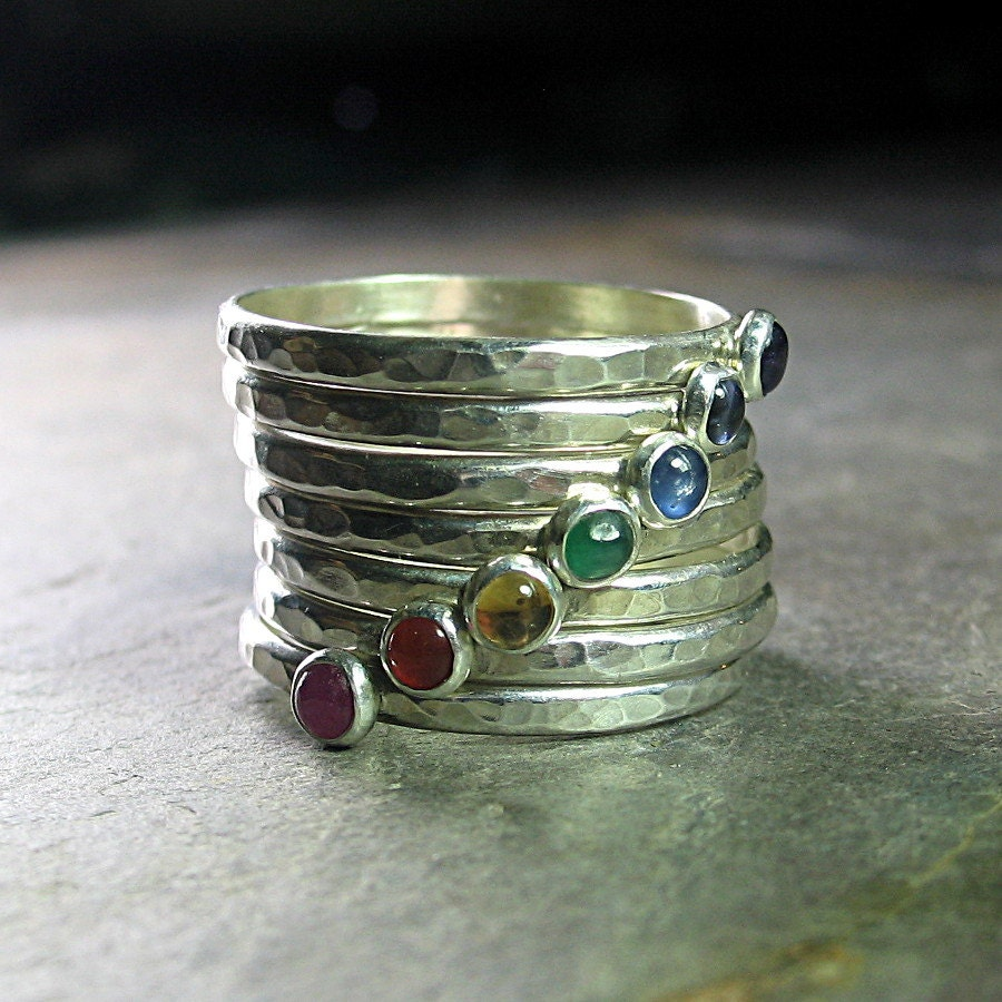 chakra ring jewelry 7 chakras stacking rings sterling