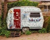 Gypsy Caravan Photography, Shabby Chic Decor, Tiny Home Art, Vintage Camper Print, RV Decor, UK Photography, Welsh Photo, Vacation Home