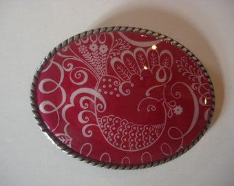Belt buckle Womens, Pink Partridge