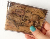 Mens Ancient World Maps bifold vinyl wallet