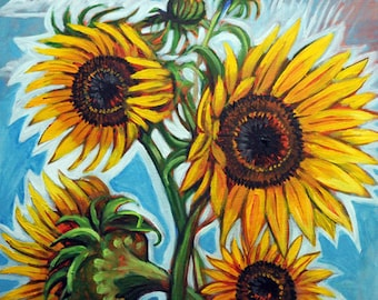 Sunflower Glow - Print
