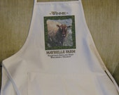 Apron with picture of Winnie the sheep